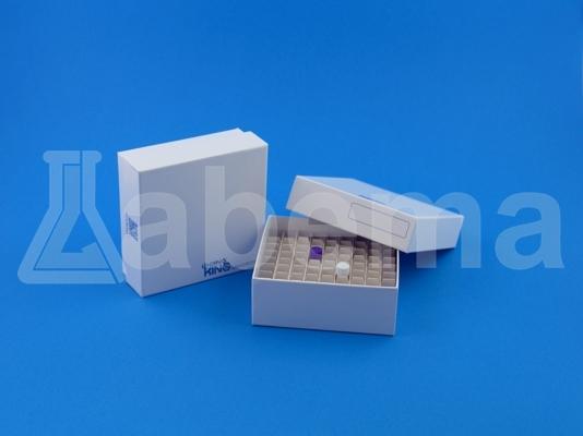 Wodoodporne pudełko kartonowe, 81-miejscowe, białe, powłoka Plasti-Coat