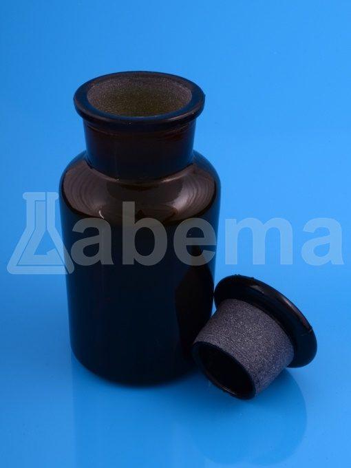 Butelka na odczynniki (sztand), oranż, szeroka szyja