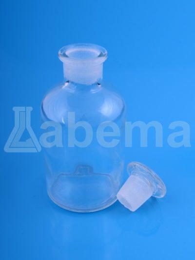 Butelka na odczynniki (sztand), przezroczysta, wąska szyja