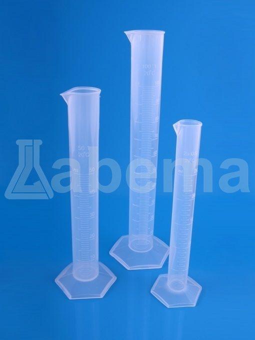 Cylinder miarowy plastikowy (PP), skala tłoczona