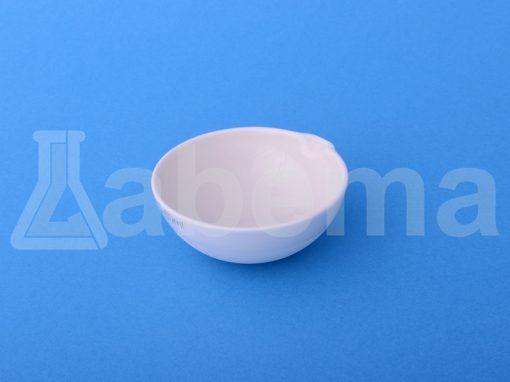 Parownica porcelanowa okrągłodenna, glazurowana