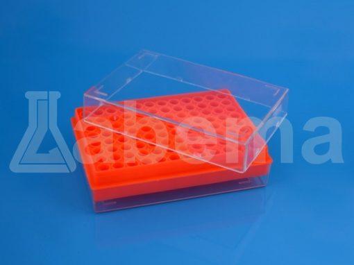 Statyw z pokrywką na 96 probówek PCR 0,2 ml