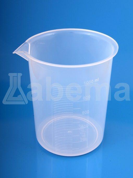 Zlewka plastikowa (PP), skala tłoczona
